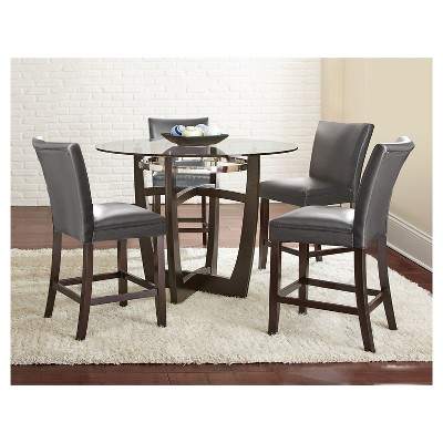5 Piece Margo Counter Height Dining Table Set Wood/Gray - Steve Silver Company  Target  sc 1 st  Target & 5 Piece Margo Counter Height Dining Table Set Wood/Gray - Steve ...
