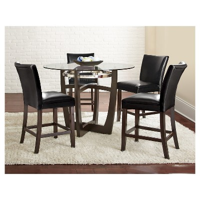 5 piece counter height dining table set woodblack steve silver margo - Steve Silver Furniture