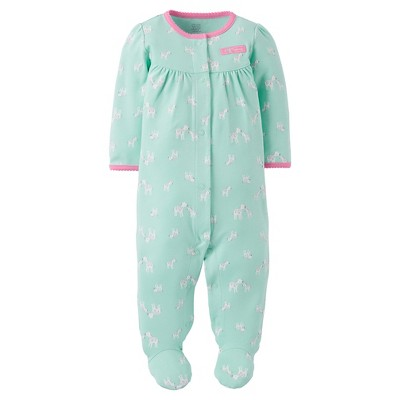 Just One You™ Made by Carter's® Baby Girls' Footed Sleeper - Mint 6M