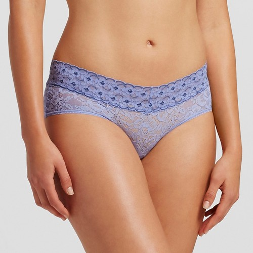 Women's All Over Lace Hipster Panty Deep Periwinkle S