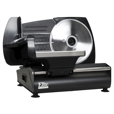 Elite Platinum Die Cast Electric Food & Meat Slicer in Black