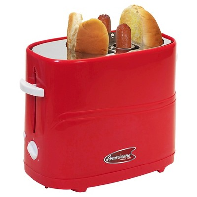 Elite Cuisine Hot Dog Toaster - Red