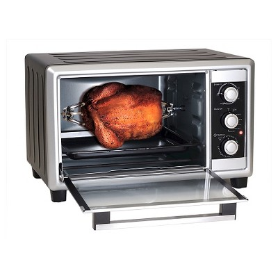 Elite Cuisine 6-Slice Extra Large Toaster Oven Broiler with Rotisserie