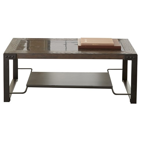 Ashford Wood Metal and Stone Cocktail Table - Steve Silver Co. - image 1 of 1