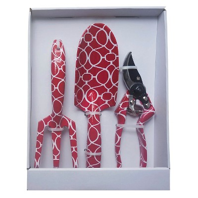 Trellis Three Piece Garden Tool Set, Red - Threshold™