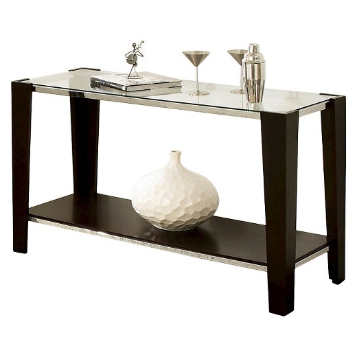 Foyer Table Bed Bath And Beyond : Espresso sofa table beautiful with