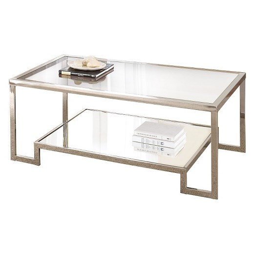 Carol Chrome And Glass Cocktail Table Steve Silver Co Target