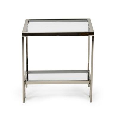 carol chrome and glass end table steve silver