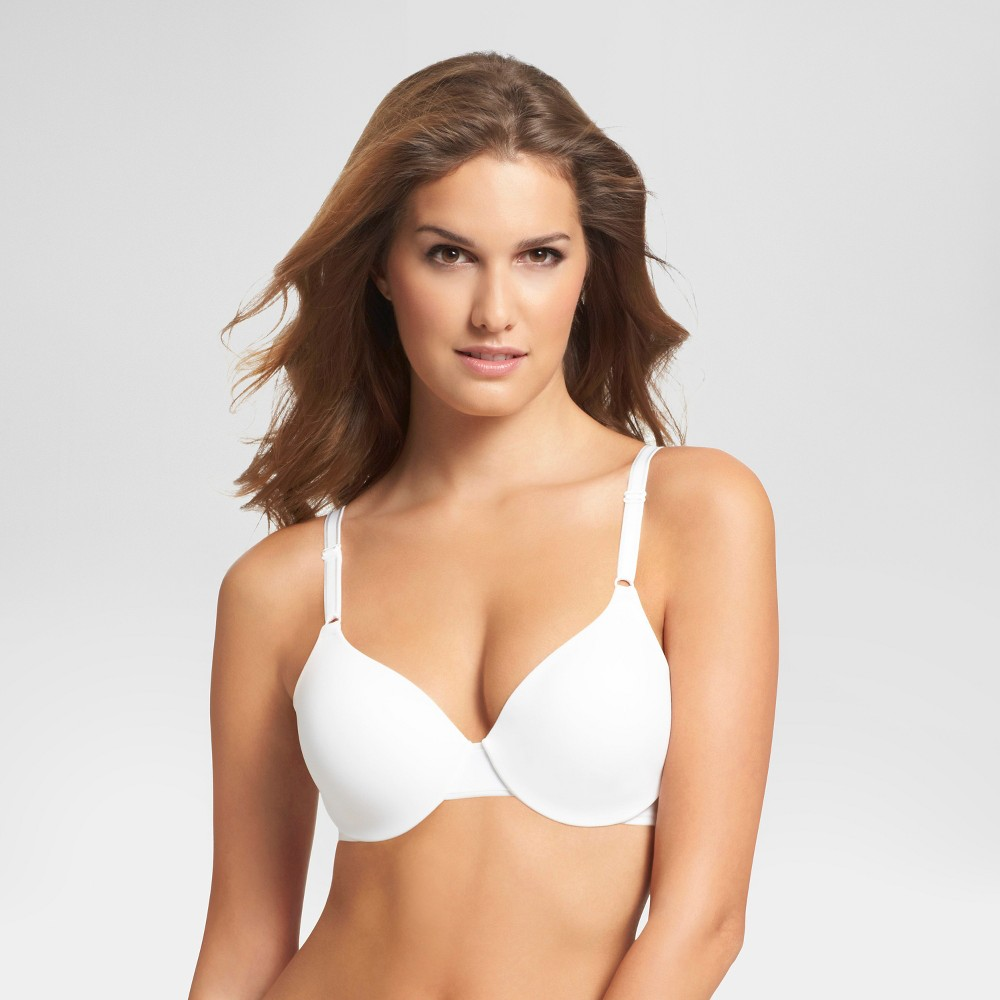 Simply Perfect by Warners Cushioned Comfort Underwire Bra 1593TA - 34D White, Womens