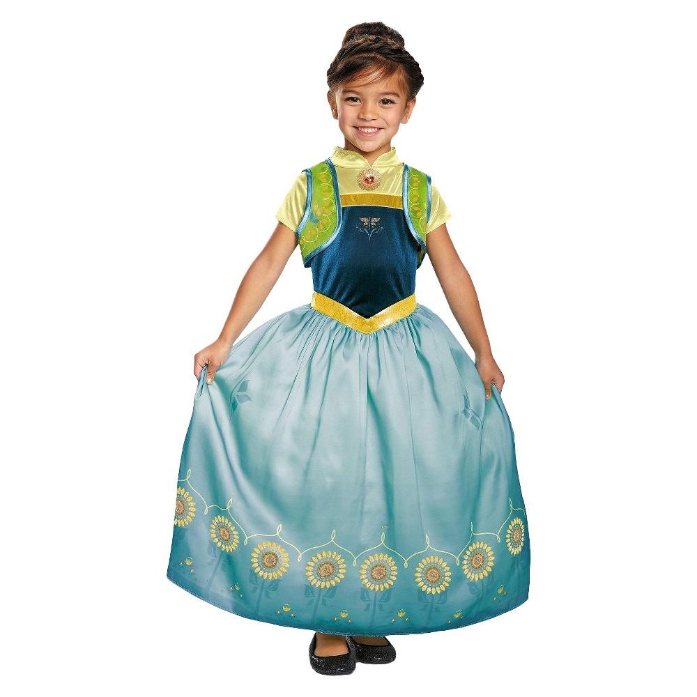 Frozen Girls Anna Fever Deluxe Costume - L(10-12), Green