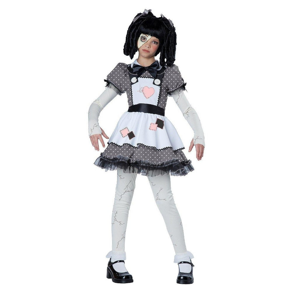 Kids' Haunted Doll Costume Gray Small, Girl's, Size: S(4-6)