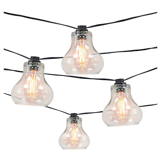 10ct Decorative String LightsGlass Cover with Edison Bulb  Smith