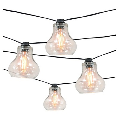 10ct decorative string lightsglass cover with edison bulb smith u0026 hawken - Decorative String Lights