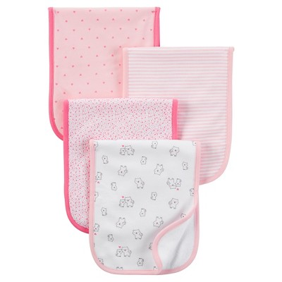 Just One You™ Made by Carter's® Baby Girls' 4pk Burp Cloth Set - Pink