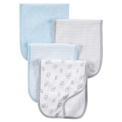 Just One You™ Made by Carter's® Baby Boys' 4pk Burp Cloth Set - Blue