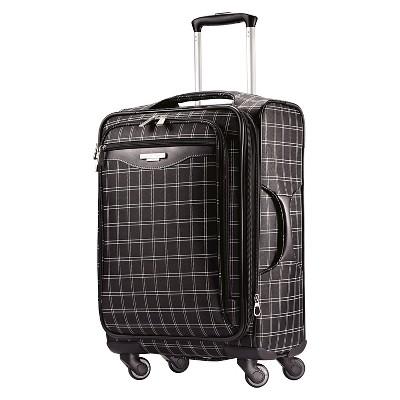 American Tourister 20  Carry On Luggage - Black Windowpane