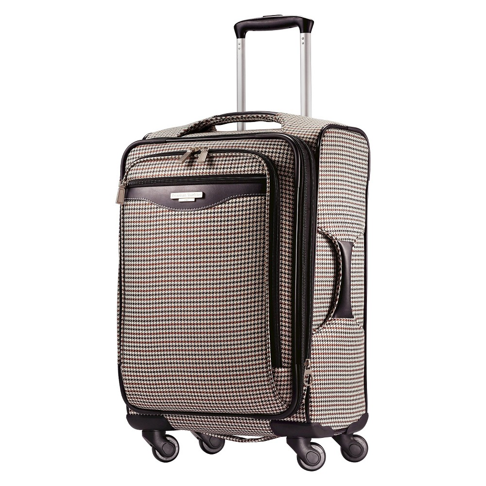 American Tourister 20 Carry On Luggage - Houndstooth, Brown