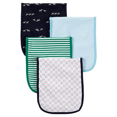 Just One You™ Made by Carter's® Baby Boys' Burp Cloth 4pc Set - Blue
