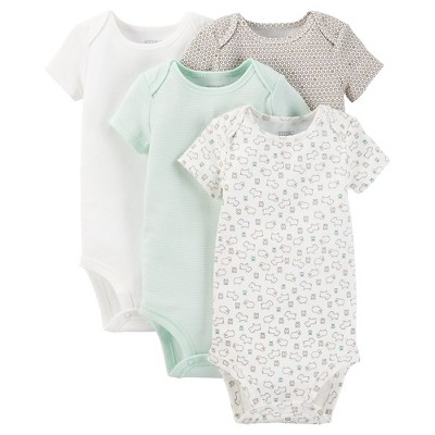 Just One You™ Made by Carter's® Baby 4pk Bodysuit - Green 6M