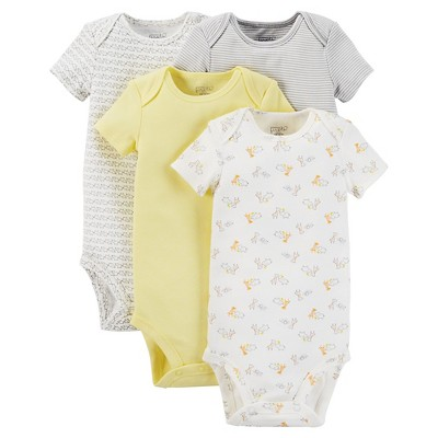 Just One You™ Made by Carter's® Baby 4pk Bodysuit - Yellow Preemie