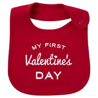 Carters Just One You My First Valentines Day Baby Bib