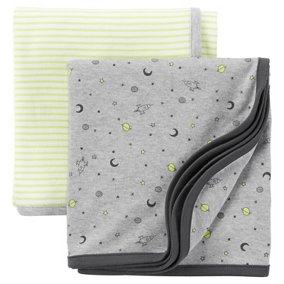 Just One You™ Made by Carter's® Baby Boys' 2-Pack Swaddle Blanket - Green