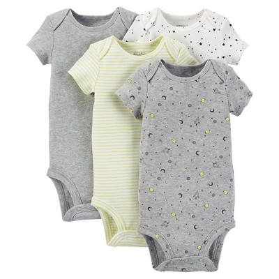 Just One You™ Made by Carter's® Baby Boys' 4pk Bodysuit - Green Preemie