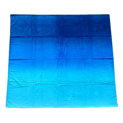 Evergreen Lux Ombre Beach Towel for Two - Blue