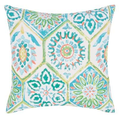 Blue Veranda Od Summer Breeze Throw Pillow (18 x18 )- Jaipur