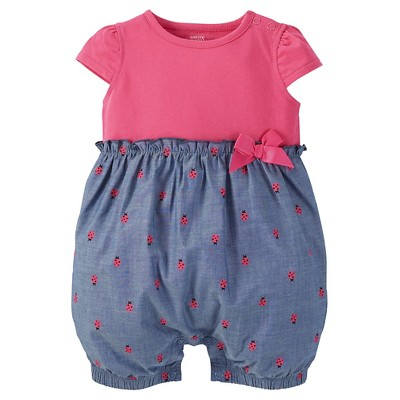 Just One You™ Made by Carter's® Baby Girls' Romper - Pink 9 M