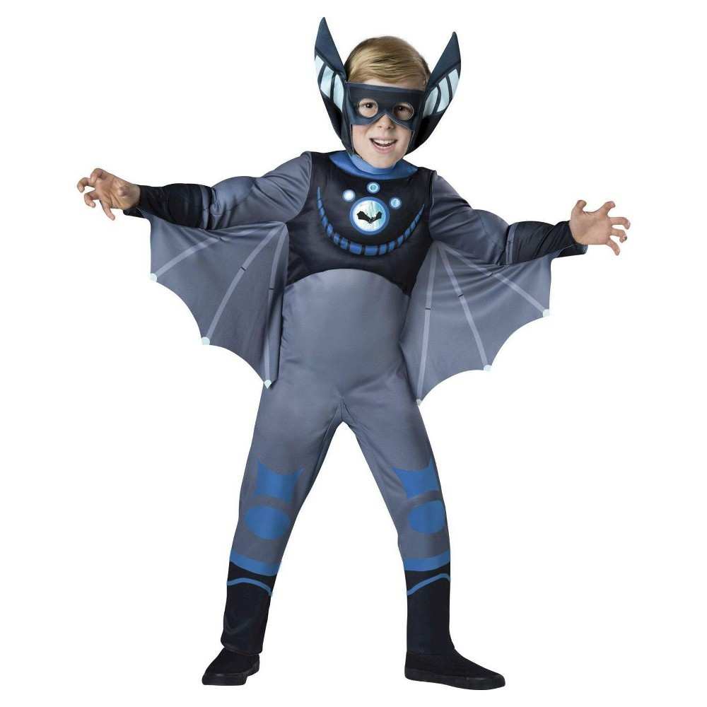 Wild Kratts Boys Bat Costume - XS, Blue