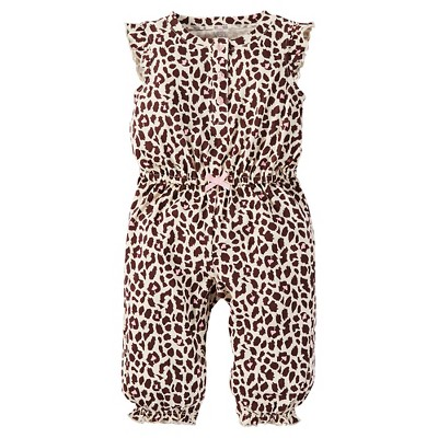 Just One You™Made by Carter's® Baby Girls' Leopard Print Jumpsuit 9M