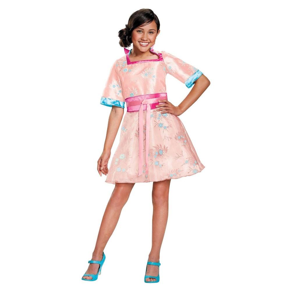 Descendants Kids Lonnie Coronation Deluxe Costume - Small (4-6), Girls, Size: S(4-6), Pink