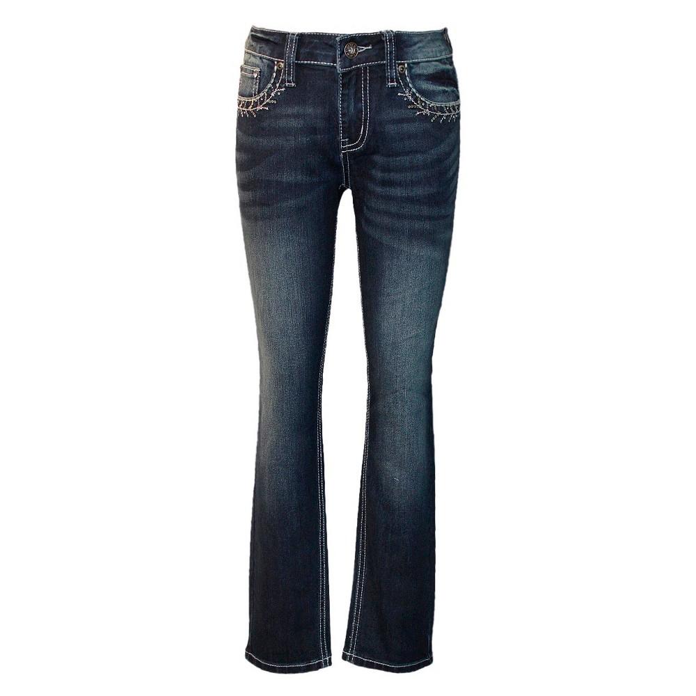 Girls Seven7 Jeans - Dark Denim Wash 8, Blue