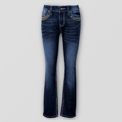 Girls' Seven7 Jeans - Dark Denim Wash 10, Girl's, Blue