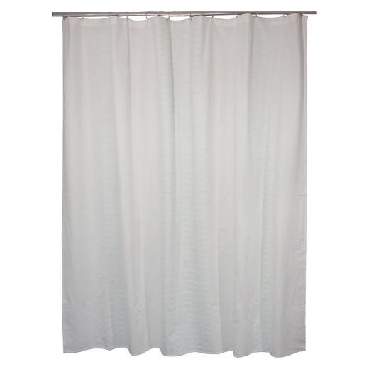 Diamond Stripe Shower Curtain Green (72\