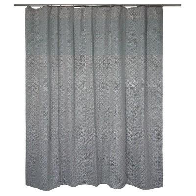 Linework Geo Shower Curtain Gray & Green (72 x72 )- Threshold™