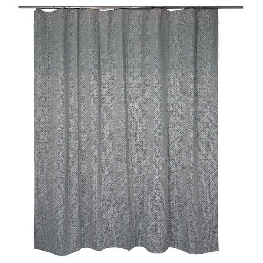 Linework Geo Shower Curtain Gray & Green (72\