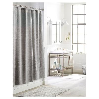 Waffle Weave Shower Curtain White Threshold Target