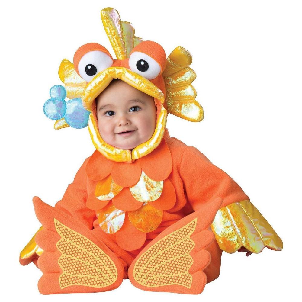 Baby Giggly Goldfish Costume Orange - 6-12 Months, Infant Unisex, Size: 6-12 M
