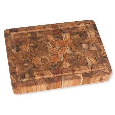 Teak Haus End Grain Cutting Board With Juice Canal - 20