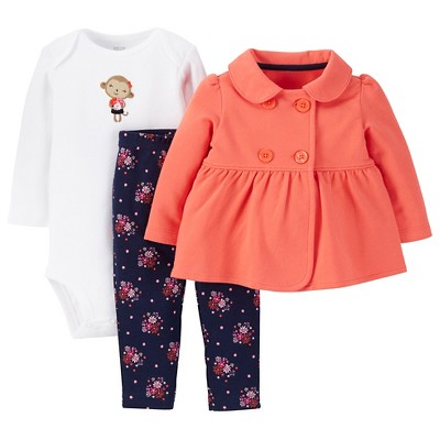 Just One You™ Made by Carter's® Baby Girls' 3pc Bodysuit Set - Multicolored 3 M