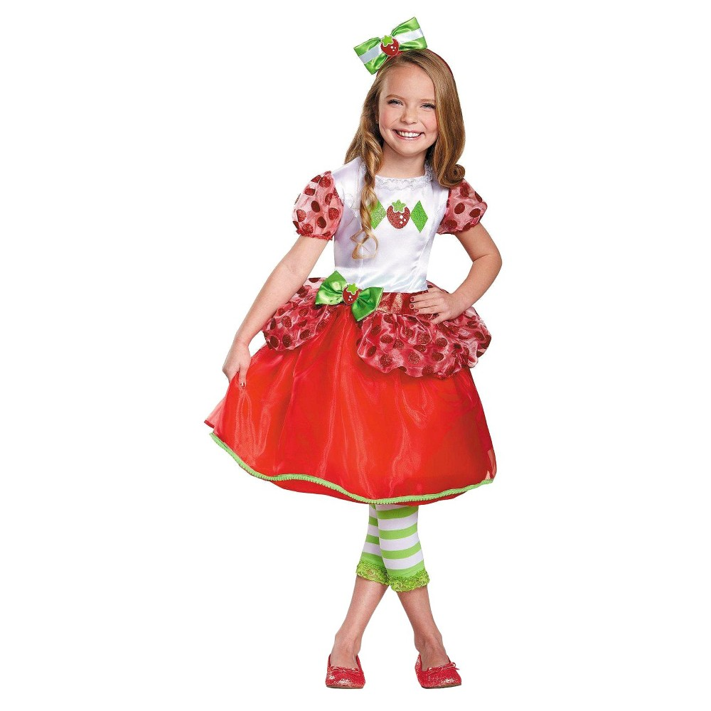 Toddler Girls Strawberry Shortcake Deluxe Costume 3T-4T, Red