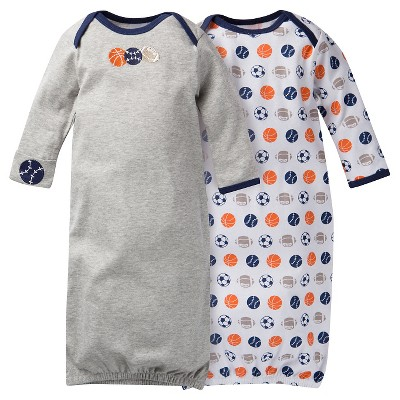Gerber® Baby Boys' 2 pack Sports Nightgown - Gray 0-6 M