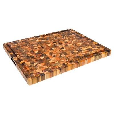 Teak Haus End Grain Cutting Board With Juice Canal - 24