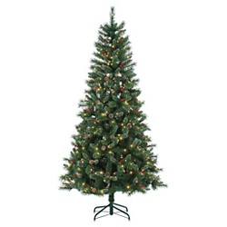 9ft Pre-Lit Artificial Christmas Tree Full Wisconsin Spruce - Clear Lights