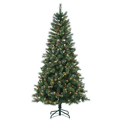 9ft Pre-Lit Artificial Christmas Tree Full Wisconsin Spruce ...