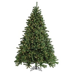 7.5ft Pre-Lit Artificial Christmas Tree Full Gold Glitter Cashmere Pine - Clear Lights