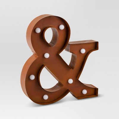 Marquee Metal Ampersand Sign - Threshold™