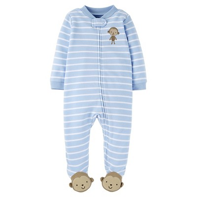 Just One You™ Made by Carter's® Baby Boys' Striped Monkey Sleep N' Play - Blue 3M